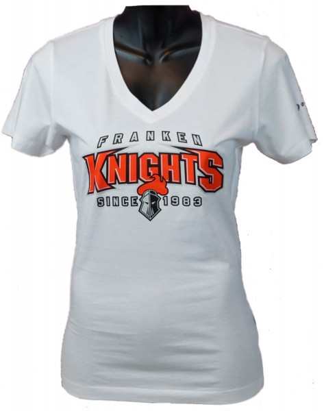 """Franken Knights Damen T-Shirt """"SINCE 1983"""" weiss"""