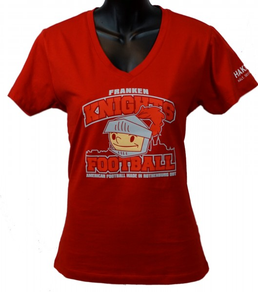 "Franken Knights Damen T-Shirt ""AMERICAN FOOTBALL MADE IN ROTHENBURG ODT"" rot"