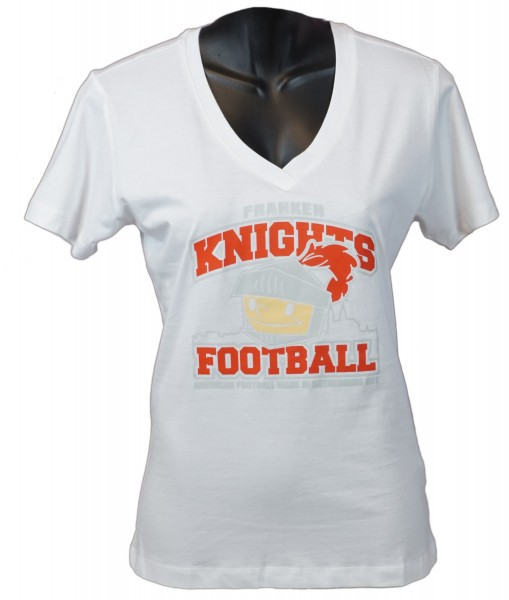"Franken Knights Damen T-Shirt ""AMERICAN FOOTBALL MADE IN ROTHENBURG ODT"" weiss"