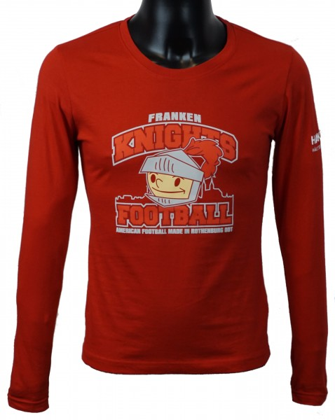 "Franken Knights Damen Longsleeve ""AMERICAN FOOTBALL MADE IN ROTHENBURG"" rot"