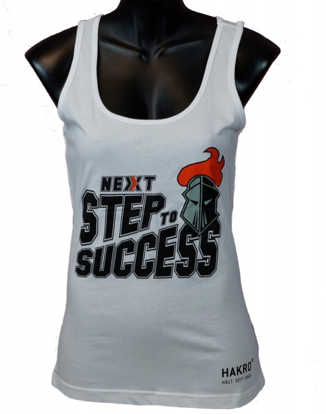"Franken Knights Damen Tank-Top ""NEXT STEP TO SUCCESS"" weiss"