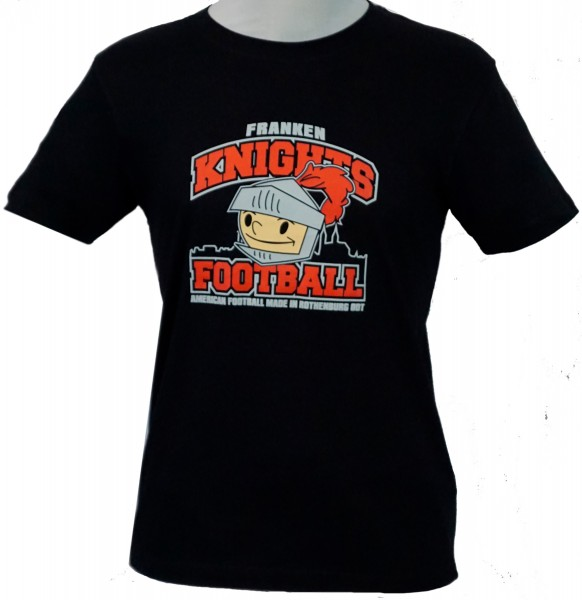 "Franken Knights Kids T-Shirt schwarz ""AMERICAN FOOTBALL MADE IN ROTHENBURG ODT"""