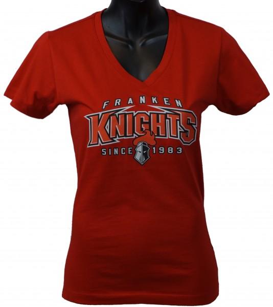 """Franken Knights Damen T-Shirt """"SINCE 1983"""" rot"""